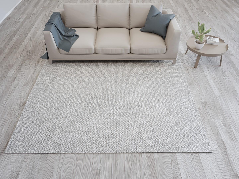 Beżowa Kanapa Beżowy dywan