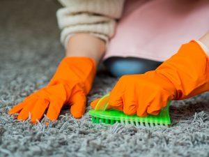 Czyszczenie dywanu szczotką